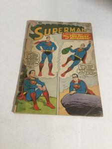 Superman 137 Gd- Good- 1.8 Cover Detached Tape On Cover  DC Comics Silver Age
