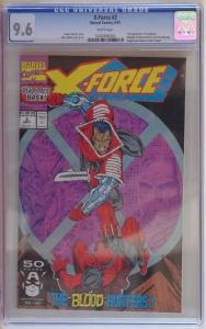 X-FORCE #2, CGC = 9.6, NM+, 2nd Deadpool, Weapon X, 1991 , more in store