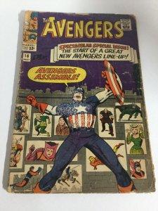 Avengers 16 Gd Good 2.0 Marvel Comics Silver Age