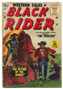 Black Rider #28 1955- Return of the Spider- G