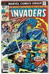 INVADERS #11, VG+, Captain America, Sub-Mariner, Torch, 1975, more in store