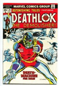 ASTONISHING TALES #26-DEATHLOK-MARVEL FN+  comic book