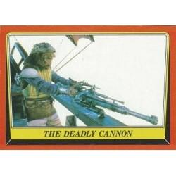 1983 Topps RETURN OF THE JEDI - THE DEADLY CANNON #50