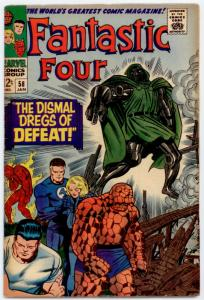Fantastic Four #58 FN+ 6.5  Doctor Doom steals the Silver Surfer's powers