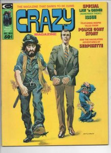 CRAZY #8 Magazine, FN, Nixon, Law and Order, 1973 1974, more in store