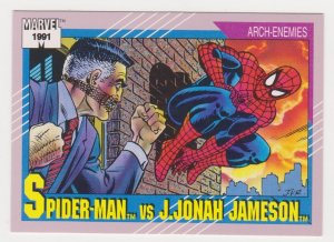 1991 Marvel Universe #121 Spider-Man vs J. Jonah Jameson