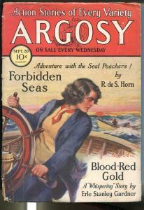 Argosy 9/20/1930-Munsey-Erle Stanley Gardner-Pater Stahr-pulp thrills-Dunn-GOOD