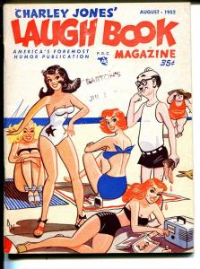 Charley Jones' Laugh Book  8/1952-spicy swimsuit cover-gags-cartoons-FN