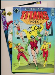 Eclipse Comics TEEN TITANS INDEX #1-#3  FINE/VERY FINE (HX677)