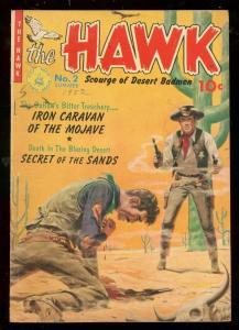HAWK #2 1952-ZIFF DAVIS PRECODE-CACTUS KUBERT-INFANTINO FN