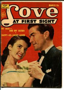 Love At First Sight #20 1953-Ace-pick-up date-Canadian variant-rare-VG