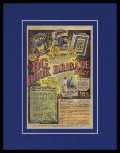 1977 DC Comics Framed 11x14 ORIGINAL Vintage Advertisement Batman Superman