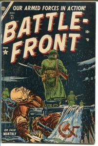 Battlefront #17 1954-Atlas-GenPatton-Lafayette-Korean War-Key issue-VG/FN