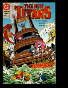 Lot Of 12 New Titans DC Comics # 69 70 71 73 74 75 76 77 78 79 80 81 Cyborg JF7