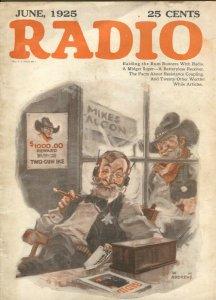 Radio 6/1925-Raiding The Run Runners With Radio-pix-info-ads-diagrams-pulp fi...