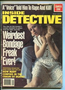 INSIDE DETECTIVE-01/1983-BONDAGE FREAK-SHOOTOUT-TALKING SKELETON-SHOTGUN G