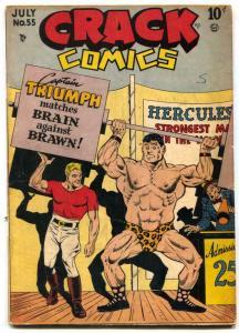 Crack Comics #55 1948- CAPTAIN TRIUMPH- Crandall art VG