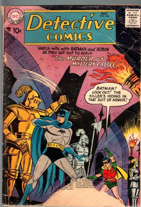 DETECTIVE COMICS #246-1957-john jones-BATMAN-DC SILVER AGE-FR/G FR/G