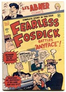 Li'l Abner #68 1949- FEARLESS FOSDICK battles Anyface VG/FN