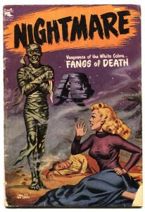 Nightmare #11 1954 HEADLIGHTS / MUMMY cover - Pre-Code horror