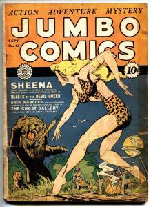Jumbo Comics #43 1942- Sheena Lion cover- Fiction House golden age