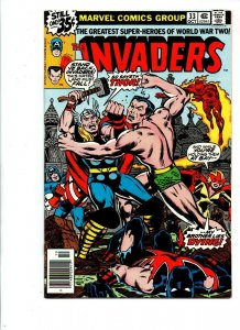 The Invaders #33 newsstand - Captain America - Thor vs Namor - 1977 - VF/NM