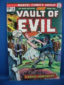 Vault of Evil #16 (Dec 1974, Marvel) F VF