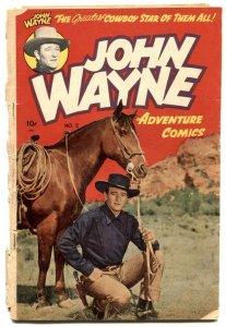 John Wayne Adventure #2 1950-Western- Frazetta FAIR