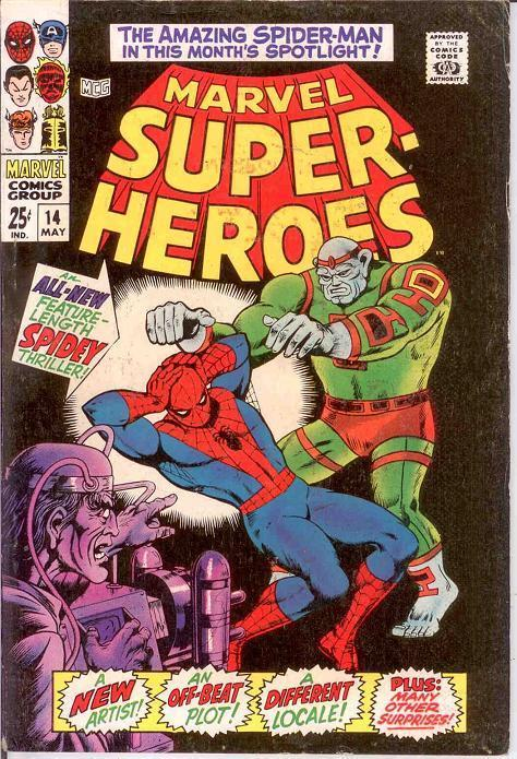 MARVEL SUPER HEROES 14 FINE May 1968 COMICS BOOK