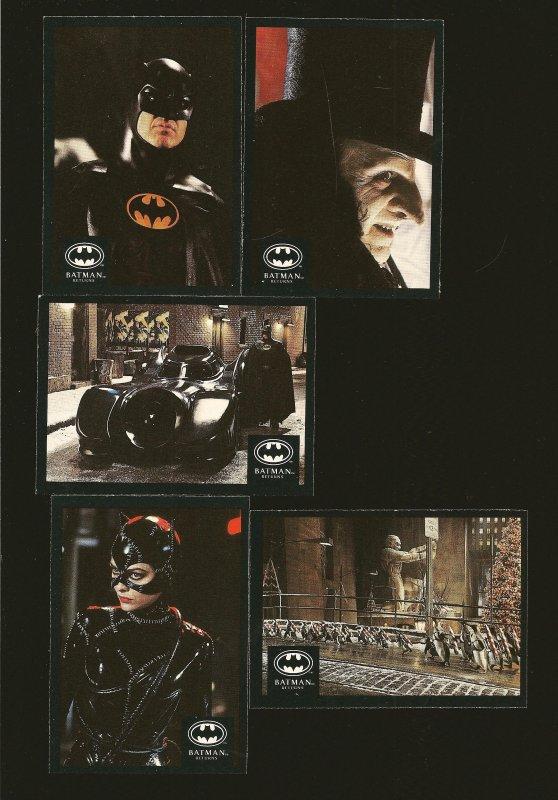 Batman Returns O-Pee-Chee Canada 1992 Lot of 10 Trading Cards A-J