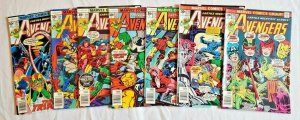 Avengers 1976 #154,155,156,157,158,159,160  LOT price on all 7  VF/NM