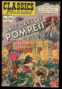 CLASSICS ILLUSRATED #35 HRN 35-LAST DAYS OF POMPEII FN-