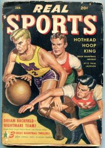 Real Sports Pulp January 1948- Gardener F Fox- Basketball cover VG