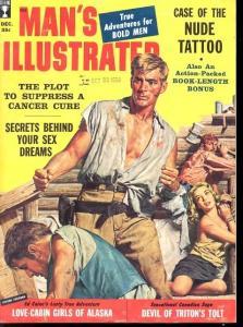MAN'S ILLUSTRATED 1958 DEC-PULP-BOUND WOMAN CVR-WW II VF