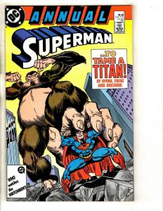 Lot Of 10 Superman DC Comic Books Annuals # 1 2 3 + # 43 62 33 34 35 36 37 JC6
