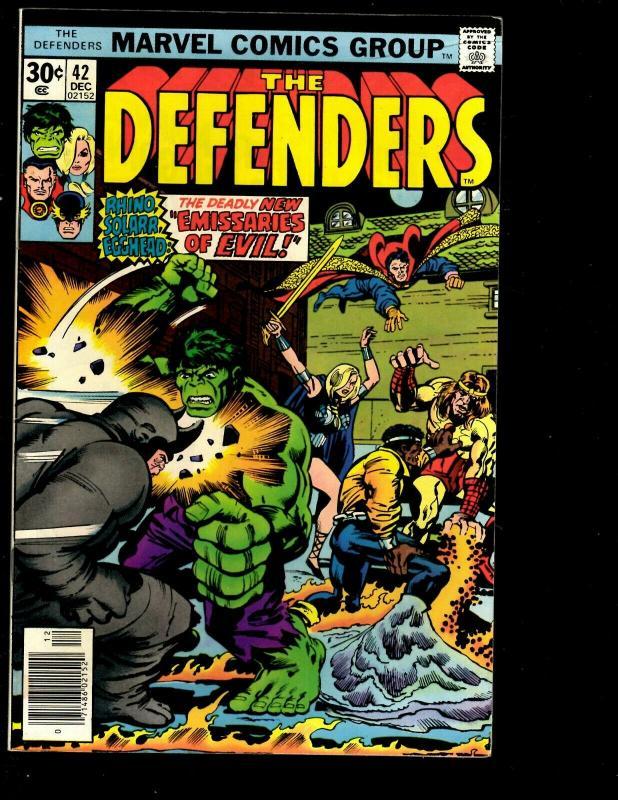 Lot of 8 Defenders Marvel Comic Books 47 46 44 43 42 40 39 37 Spider-Man JF10
