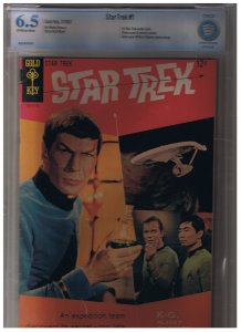 SALE ''''  Star Trek # 1 B Gold Key Issue With Photo Back Cover  ''''SALE 500.00