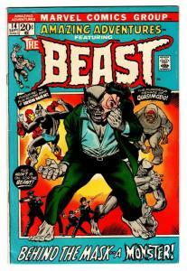 AMAZING ADVENTURES #14-comic book BEAST-X-MEN FN