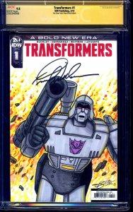 Transformers #1 BLANK CGC SS 9.8 G1 Megatron SKETCH signed Frank Welker NM/MT