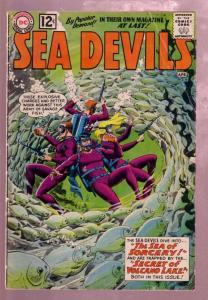 SEA DEVILS #4 1962- THE SEA OF SORCERY-RUSS HEATH COVER VG