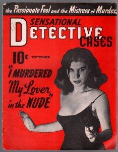 Sensational Detective Cases 9/1941-exploitation-crime-gun moll cover-FN