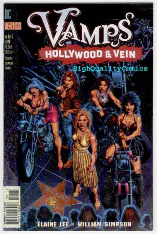 Vampires, VAMPS : HOLLYWOOD & VEIN #1 2 3 4 5 6, NM+, Fangs, Blood, Vertigo, 1-6