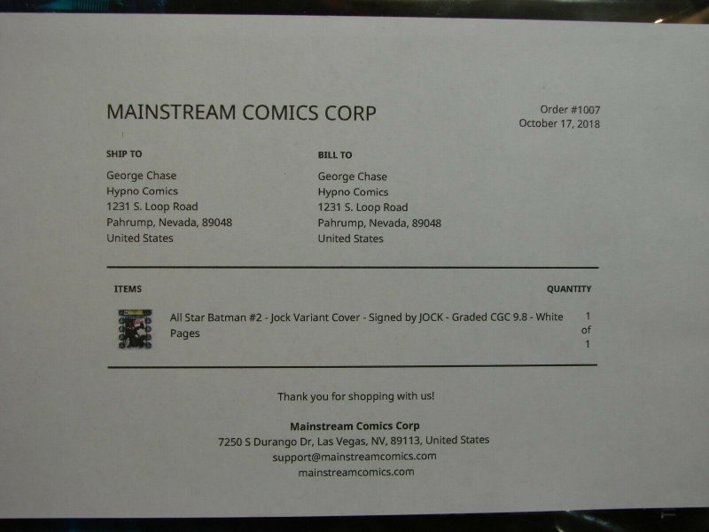 All-Star Batman #2 JOCK Variant SIGNED CGC Signature Graded 9.8 DC Comics 2016