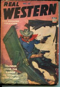 Real Western-12/1942-Double Action-WWII era-Norman A Fox-pulp fiction-GOOD