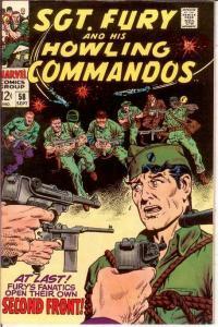 SERGEANT FURY 58 VF-NM September 1968 COMICS BOOK