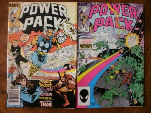 2 MARVEL Comic Book: (1986) POWER PACK #19 #20