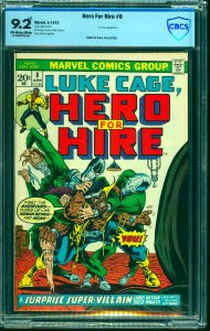 Hero For Hire #8 CBCS NM- 9.2 Off White to White Marvel Comics Luke Cage