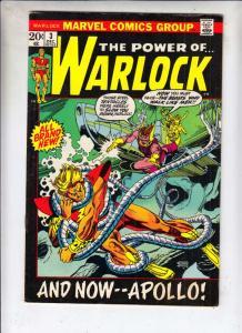 Warlock, the Power of  #3 (Dec-72) VF High-Grade Adam Warlock
