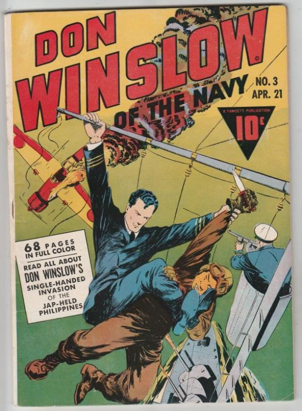 Don Winslow Of The Navy #3 (Apr-43) VF/NM High-Grade Don Winslow