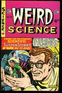 WEIRD SCIENCE #12-FELDSTEIN SCI-FI COVER-1975 ECREPRINT FN/VF